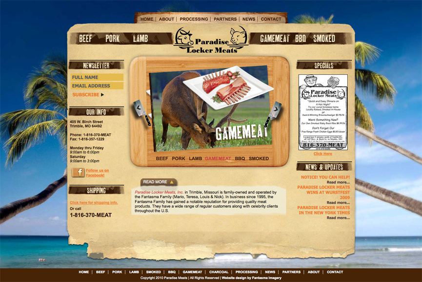 Paradise Meats New Site