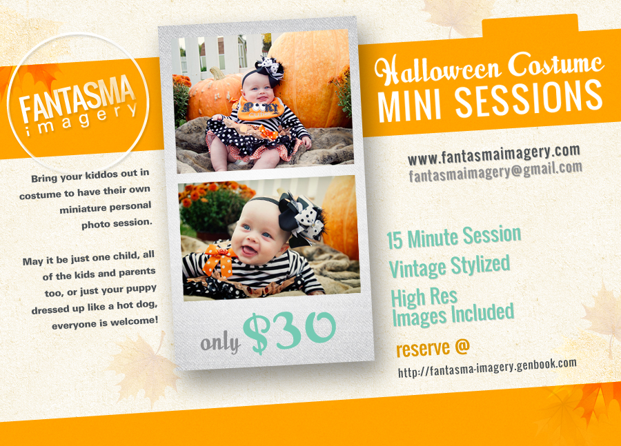 Halloween Costume Mini Sessions!!